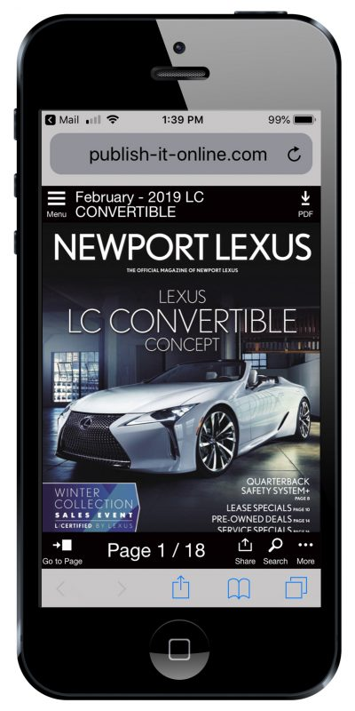 iDriver Newport Lexus Mobile phone LC Convertible February issue